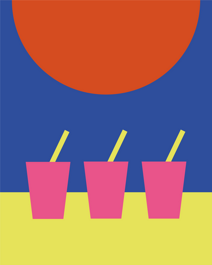 Sunset Drin Digital Illustration Alessio Sanzeri