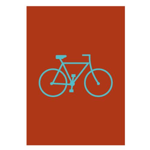 Bike Red - Digital Print