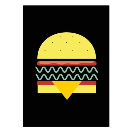 Veggie Burger Black / Pop  - Digital Print