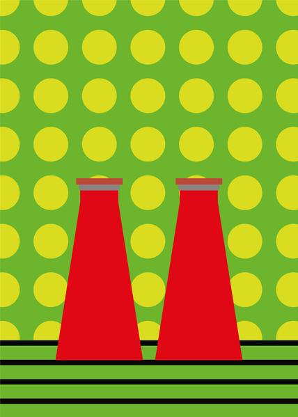 Happy Hour - Campari Soda Digital Illustration Alessio Sanzeri