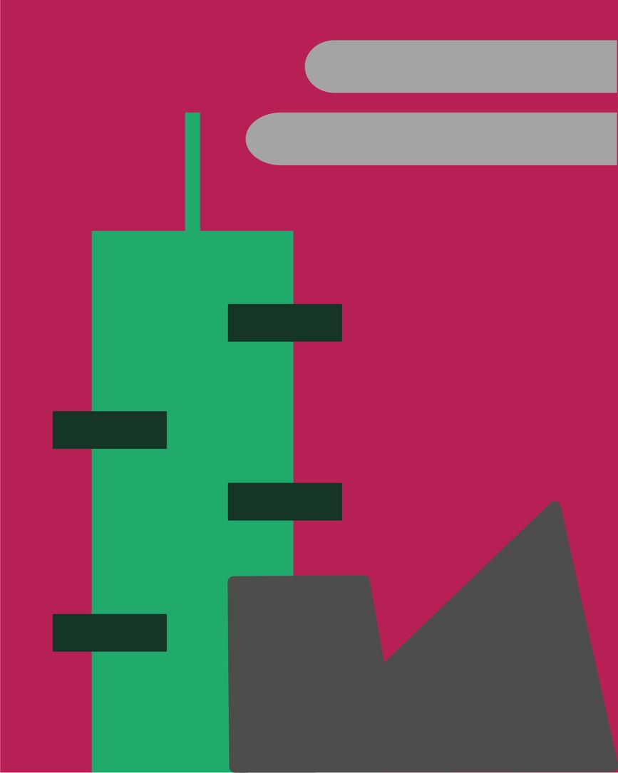 Building- Bosco Verticale Digital Illustration Alessio Sanzeri