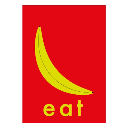 Banana / Pop Red - Digital Print