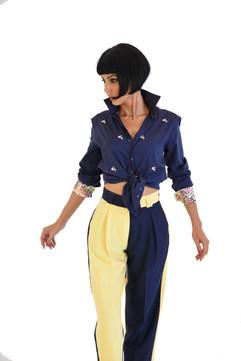 Tangolon Women's Special Pants Yellow & Bl