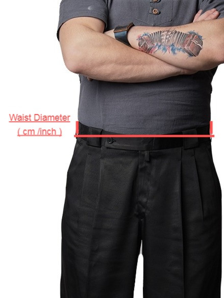 Take your waist size from the belt circumference.