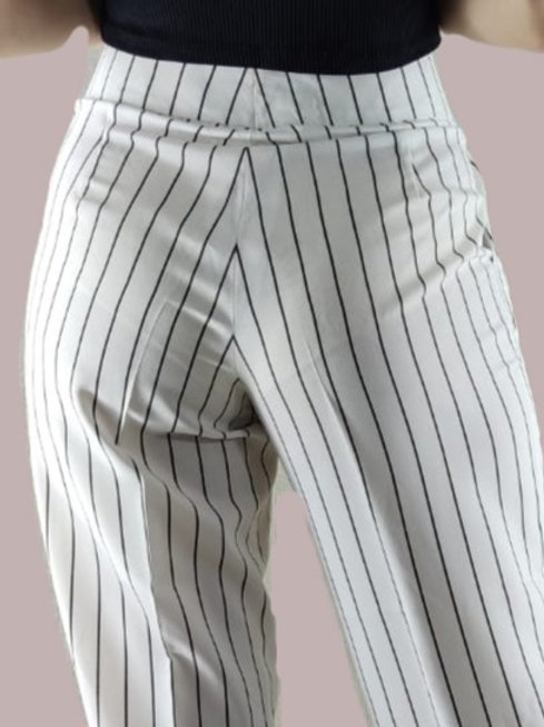 White & Black Pinstripe