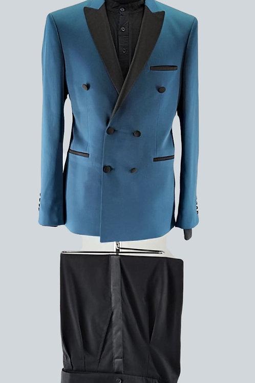 Mediterrenean Blue & Black Suit