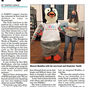 Clydebank Post published article on 'The Wonderful World of Waddles'.