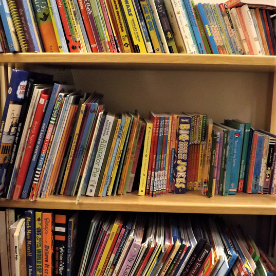 Selection of books.