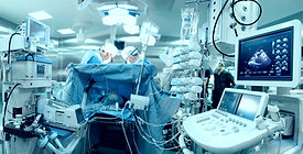 In advanced operating room with lots of
