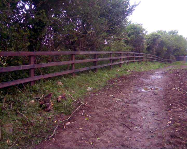 Creosote 3 Bar P+R Fence