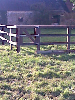 3 Bar P+R Fence with home made Pedestrian gate