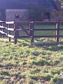 3 Bar P+R Fence with home made Pedestrian gate