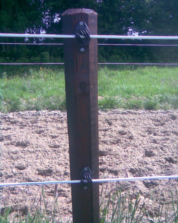 White PVC Electric Fence for Horses