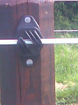 White PVC Electric Fence for Horses 2