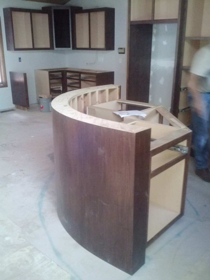 Curved bar wall