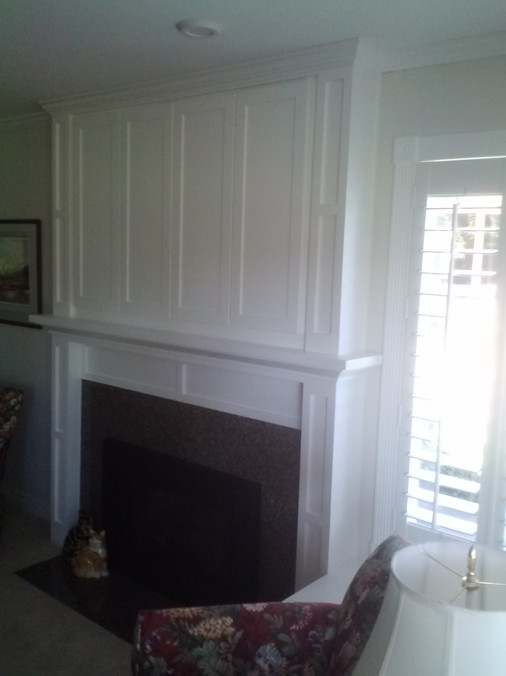 Mantel painted