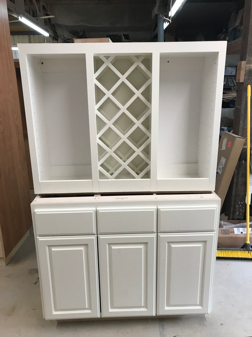 Wine cabinets ready to go out