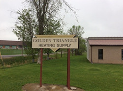 Outdoor Golden Triangle Sign