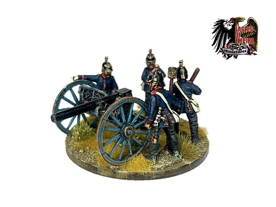 Prussian Krupp C64 with crew of 4