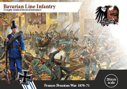 Bavarian Line Infantry    Box of 2 squads
