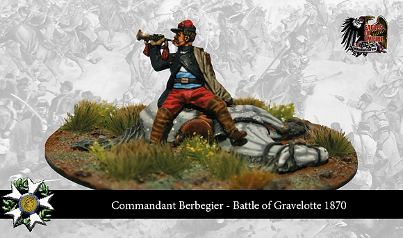 "French officer character vignette: ""Mort du Commandant Berbegier"""