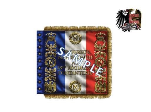 Regimental flag of the 18th Line Infantry (FR)