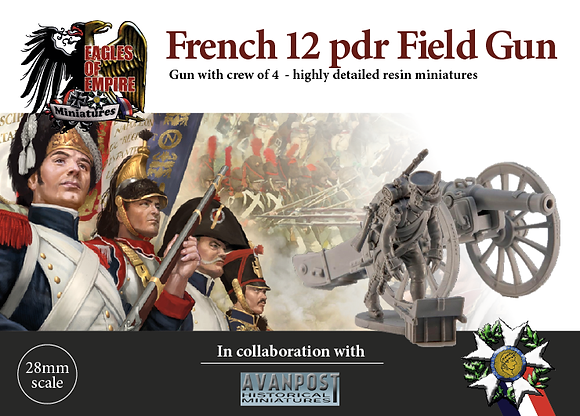 French 12-pdr gun with crew