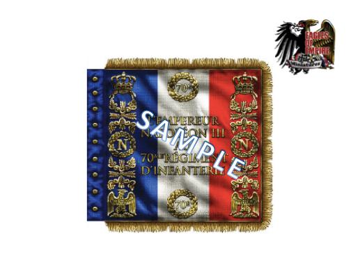 Regimental flag of the 70th Line Infantry (FR)