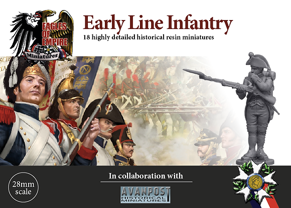 Early French Line Infantry with Bicorne