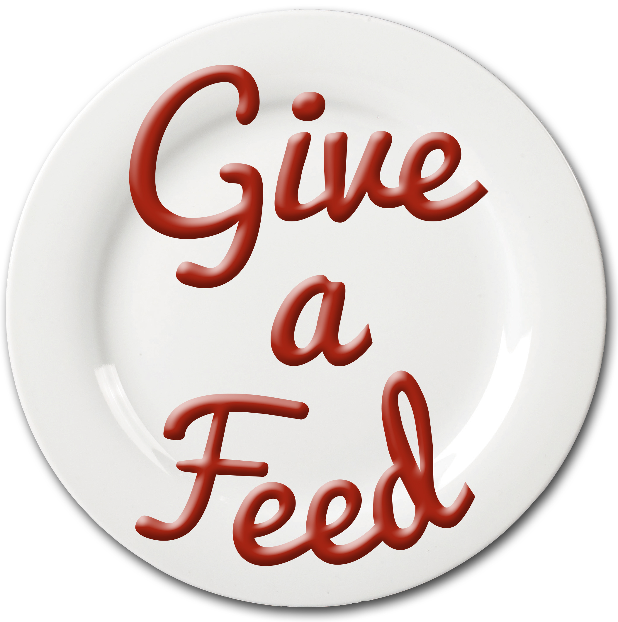 Give a Feed plate logo