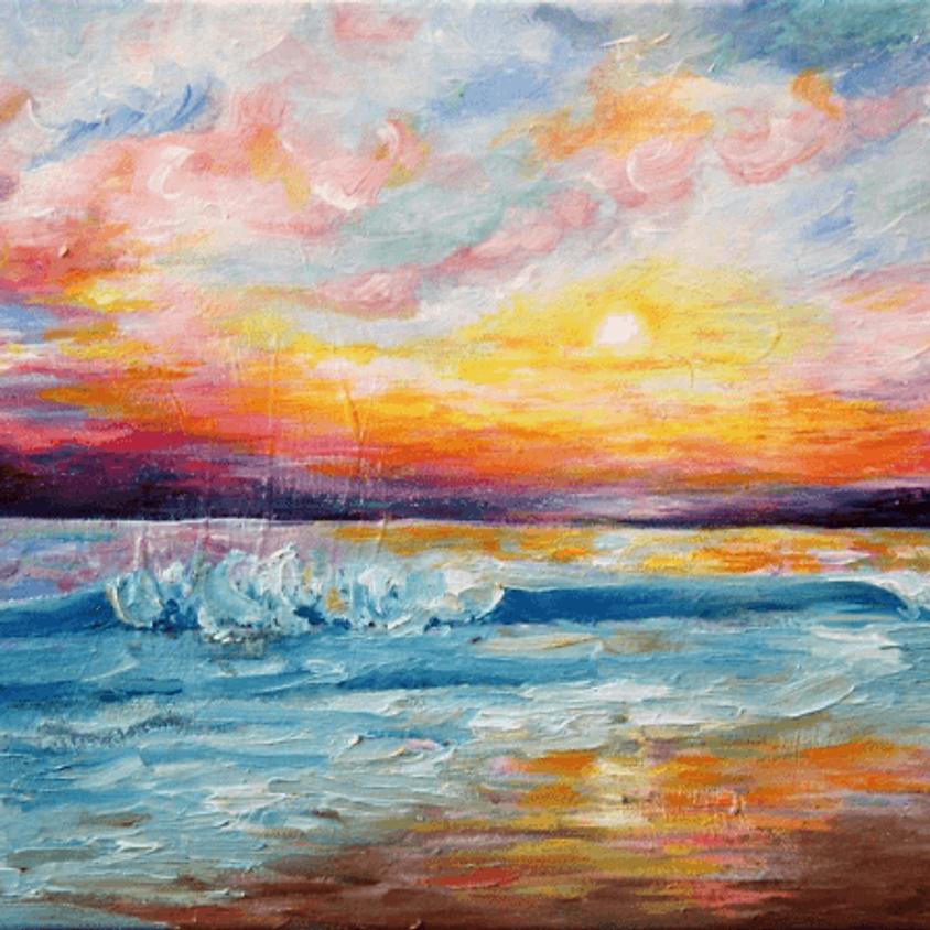 ArtNight Sunset on the Beach
