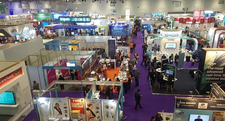 The busy halls of BETT at London Excel