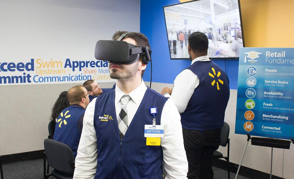 Walmart train thousands of staff in VR with STRIVR