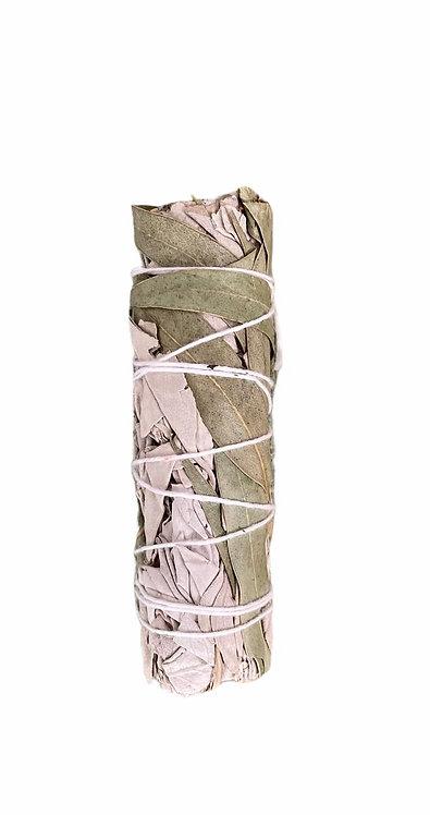 SALVIA BIANCA E AUCALIPTO - smudge stick