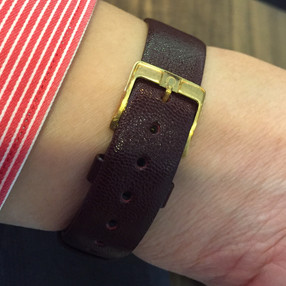 That leather strap...