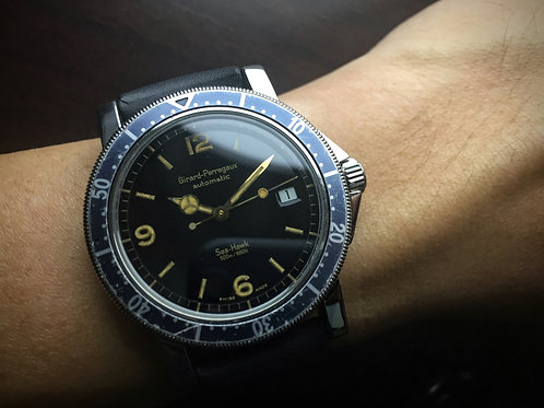 """Deep"" - 1990s Girard Perregaux Sea Hawk 7100 Automatic Diver"