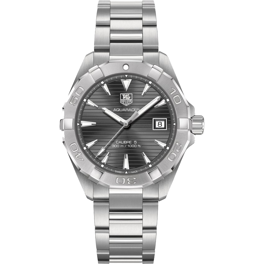 The Aquaracer comes in a variety of dial colors. Visit the website for more details.