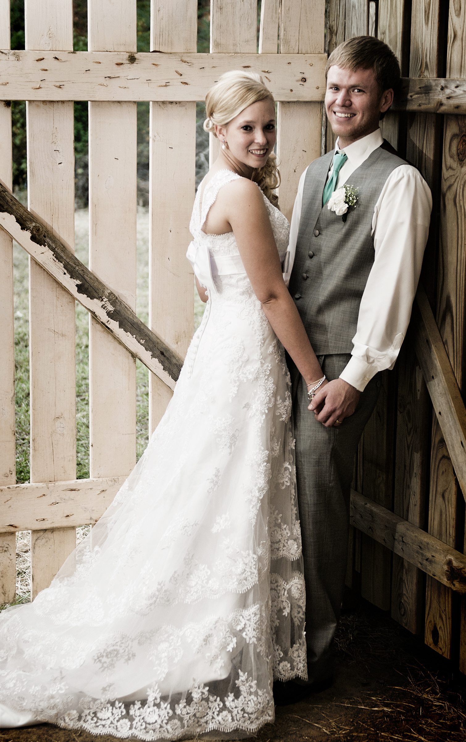 Barn Bride and Groom