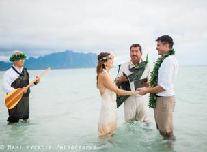 天国の海でのウェディング/Sandbar Wedding