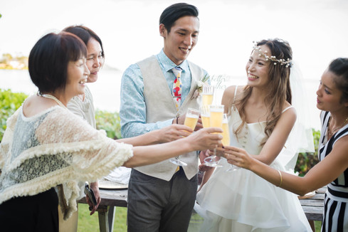 Hawaii Wedding_Cheers!!