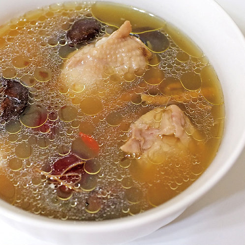 蔘鬚香菇燉雞湯