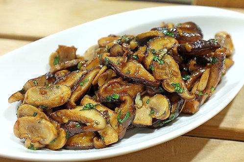 羅勒香蒜炒雙菇(素)