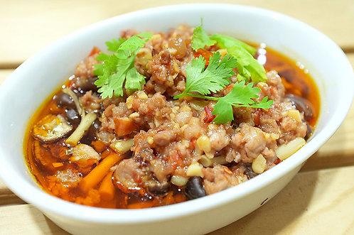 肉醬蒸菇(電鍋)