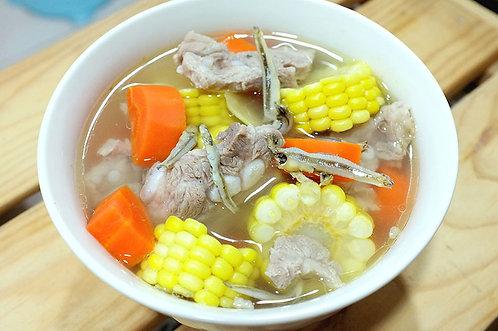 玉米魚乾排骨湯