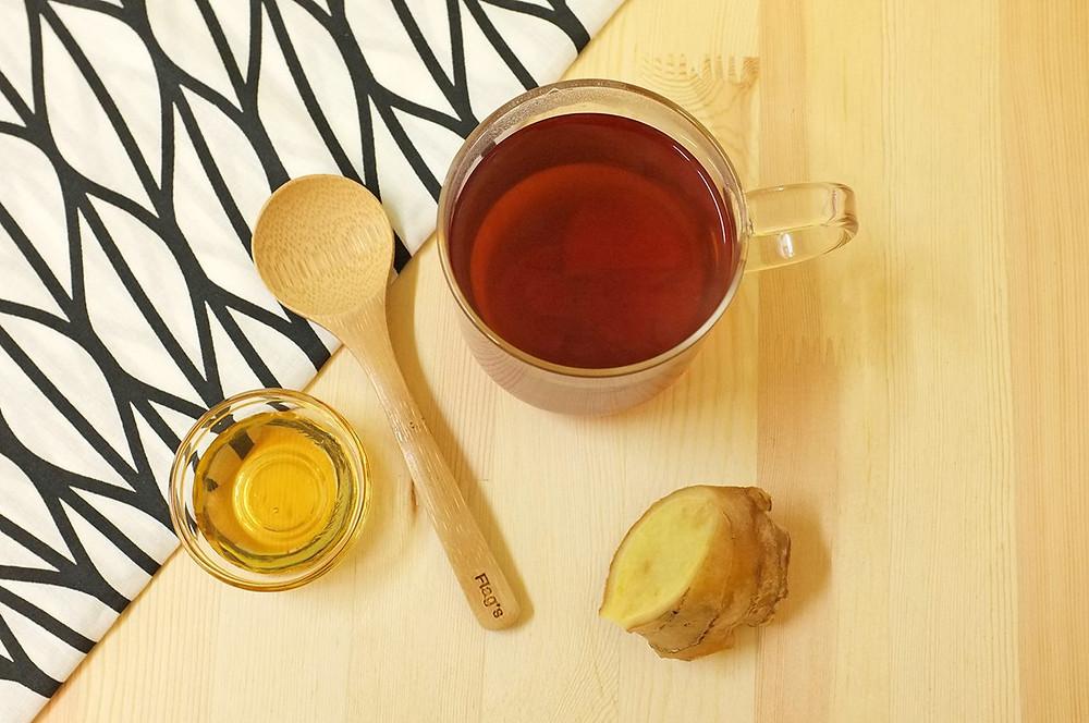 花花煮婦薑汁紅茶