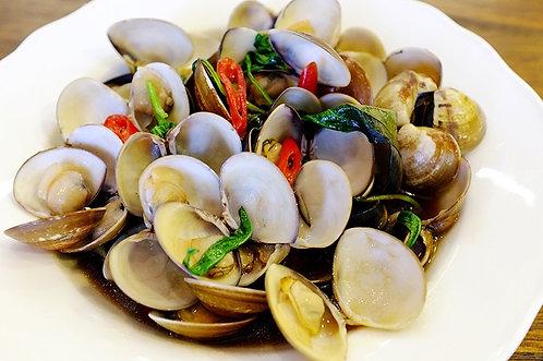 塔香炒蛤蠣