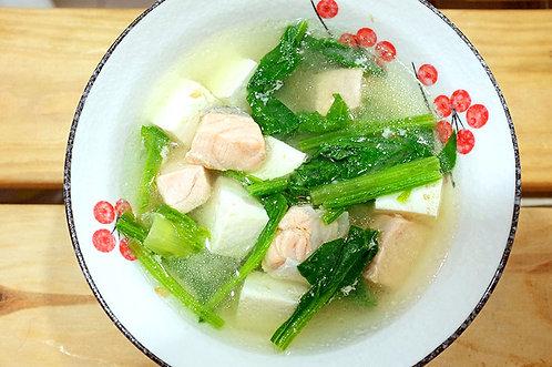 鮭魚菠菜味噌湯