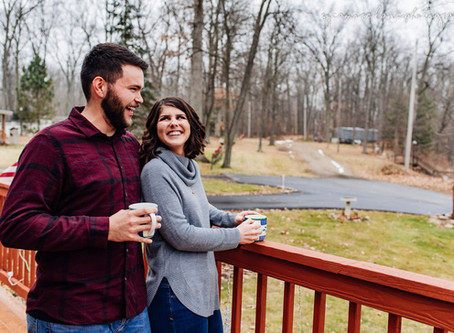 Dani & Gage- Hillsdale, Michigan Winter Engagement Session