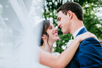 Bride and Groom Portrait Hilldale, College
