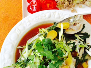 Steamed Red Snapper with Ginger, Green Onions and Chilli: #Remipe for weight control